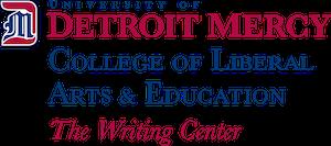 The Writing Center Detroit Mercy Logo